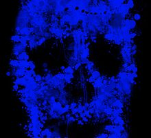 Splatter Skull (blue) by Bela-Manson