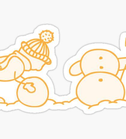 I Wanna Build A Snowman Yellow  - 1 Sticker