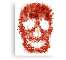 Splatter Skull (red blood of white) Canvas Print