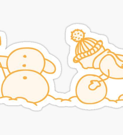 I Wanna Build A Snowman Yellow - 2 Sticker