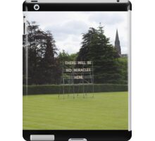 There Will Be No Miracles Here iPad Case/Skin