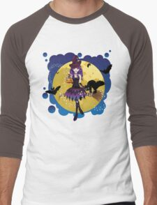 Witch and Full Moon 3 Men's Baseball ¾ T-Shirt