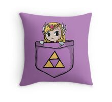 Legend Of Zelda - Pocket Zelda Throw Pillow
