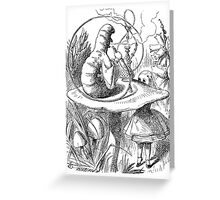 Cannabis and magic mushrooms in wonderland Greeting Card