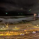 Newcastle Beach By Night by bazcelt