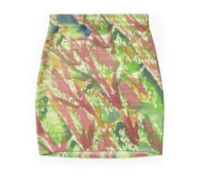 Watercolor Hand Painted Abstract Vegetable Salad Texture Mini Skirt