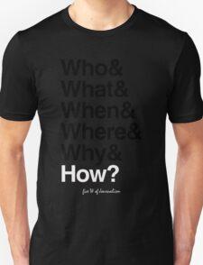 five W of journalism T-Shirt