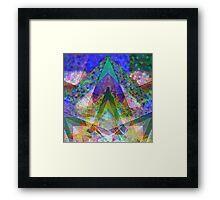 Supernova Fraction Framed Print