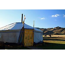 A Round House in Mongolia Photographic Print
