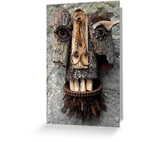 Bridle Mask ( red beard ) Greeting Card