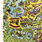 Vintage Walt Disney World Map 1971 by tylersmithh