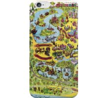 Vintage Walt Disney World Map 1971 iPhone Case/Skin