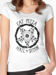 Eat Pizza Hail Satan Women's Fitted Scoop T-Shirt