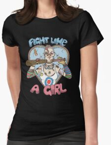 Fight Like A Girl - Fight Like A Tank Girl (Tank Girl) Womens Fitted T-Shirt