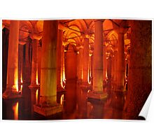 Ancient Cistern beneath Istanbul Poster