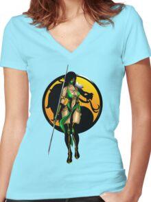 Mortal Kombat - Jade Women's Fitted V-Neck T-Shirt