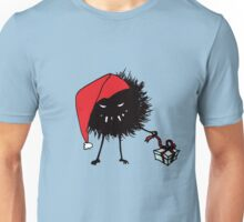 Evil Christmas Bug With Present Unisex T-Shirt