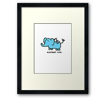 Elephant Love . Who Loves Elephants?  Framed Print