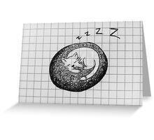Cap Nap Doodle Greeting Card
