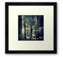 Only in Winter Framed Print