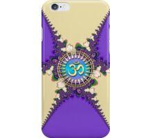 New Age OM Cream & Purple iPhone / iPod Case iPhone Case/Skin