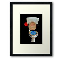 the whole world is going down the crapper Framed Print