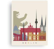 Berlin skyline poster Canvas Print