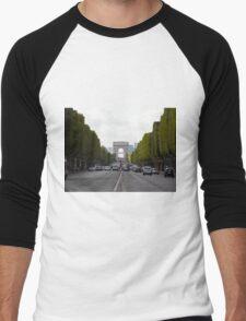 Champs Elysées in the rush hour Men's Baseball ¾ T-Shirt