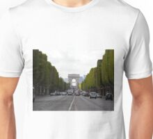 Champs Elysées in the rush hour Unisex T-Shirt