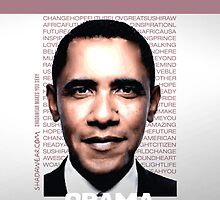 Obama is inspiration - iphone case by kaysha