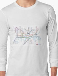 London Underground Tube Map as Anagrams Long Sleeve T-Shirt