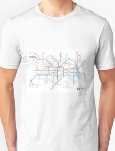 London Underground Tube Map as Anagrams T-Shirt
