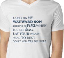 Carry on my wayward son Mens V-Neck T-Shirt