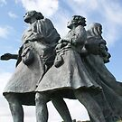 The Emigrants memorial, Helmsdale, Scotland by BronReid