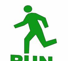 run Sticker