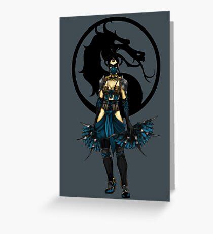 Kitana - Mortal Kombat X Greeting Card