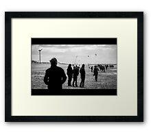 Faceless Wanderers Framed Print
