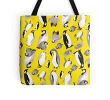 Yellow Penguin Potpourri Tote Bag