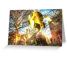 House on Fall Road Greeting Card