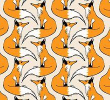 Red Fox Stripes by pondripple