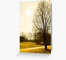 Scorching Weather Greeting Card