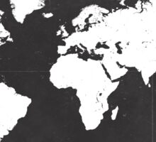 World map black and white F Sticker