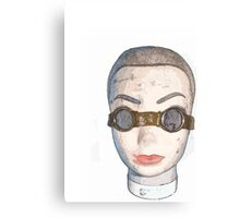 head with goggles  Canvas Print