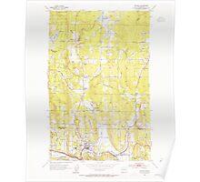 USGS Topo Map Washington State WA Bothell 240163 1953 24000 Poster