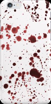 Red Ink Splatter Large by pondripple