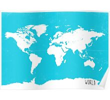 World map travel A Poster