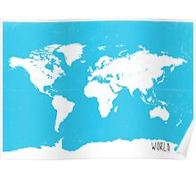 World map Travel B Poster