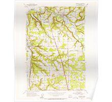 USGS Topo Map Washington State WA Ridgefield 243454 1954 24000 Poster