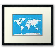World map Travel C Ocean ed Framed Print