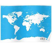 World map Travel C Ocean ed Poster